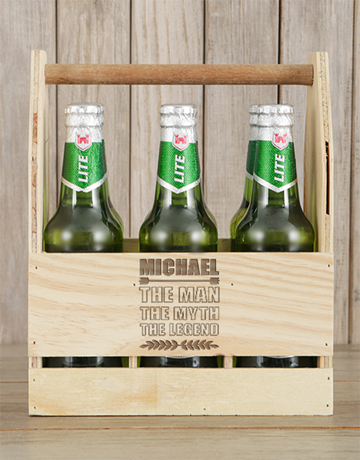fine-alcohol: Personalised Legend Castle Beer Caddy!