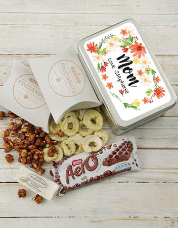 easter: Personalised Floral Snack Tin!