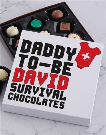 baby: Personalised Daddy To Be Choc Tray!