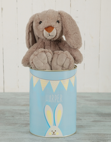 easter: Personalised  Bunny Tin!