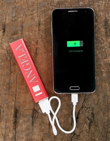 gadgets: Personalised Red Powerbank!