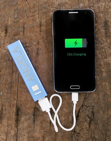 gadgets: Personalised Blue Powerbank!