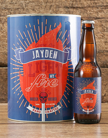 valentines-day: Personalised Light My Fire Craft Beer!