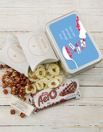 gourmet: Personalised Get Well Hearts Tin!