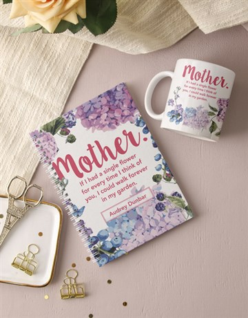personalised: Personalised Mother Floral Notebook!