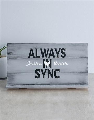 personalised: Personalised Always Sync Gadget Stand!