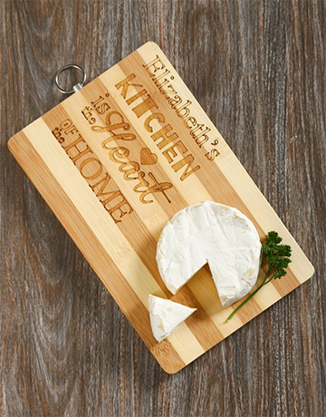homeware: Personalised Heart Of The Home Chopping Board!