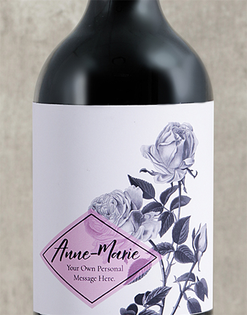fine-alcohol: Personalised Purple Rose Wine!