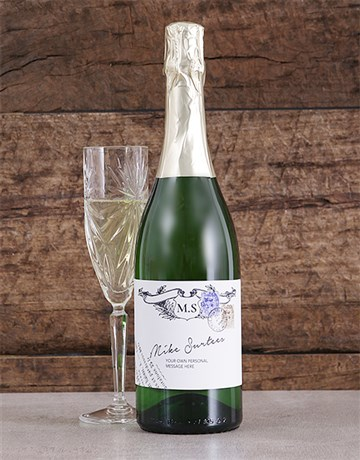 fine-alcohol: Personalised Vintage Stamp Bubbly!
