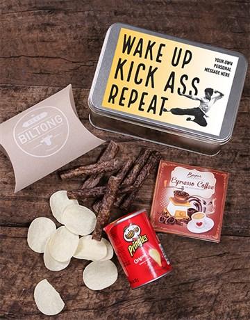 secretarys-day: Personalised Kick Ass Snack Tin!