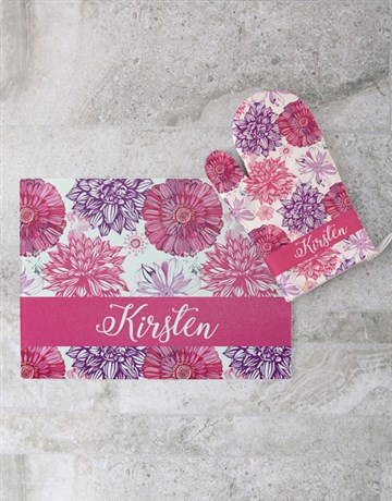 secretarys-day: Floral Glass Chopping Board Personalised!