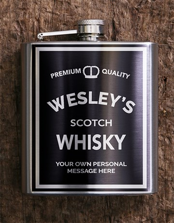 fine-alcohol: Personalised Whisky Hip Flask!