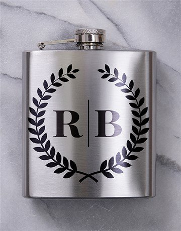 fine-alcohol: Personalised Monogram Hip Flask!