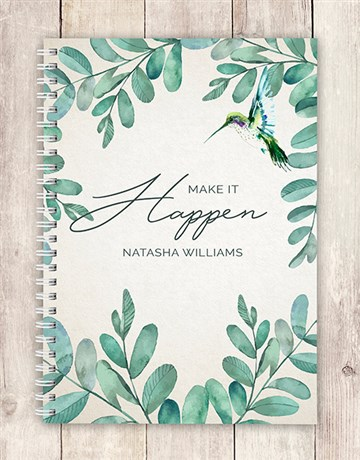 secretarys-day: Personalised Make It Happen Notebook!