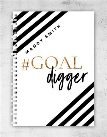secretarys-day: Personalised Goal Digger Notebook!