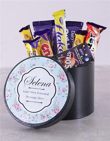 chocolate: Personalised Rose Chocolate Hat Box!