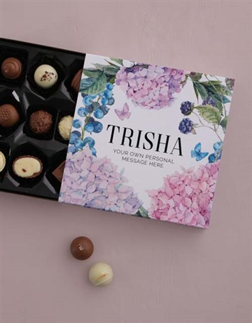 chocolate: Personalised Floral Chocolate Tray!