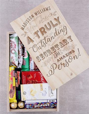 chocolate: Personalised Outstanding Secretary Choc Box!