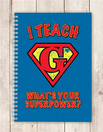 personalised: Personalised Super Power Notebook!