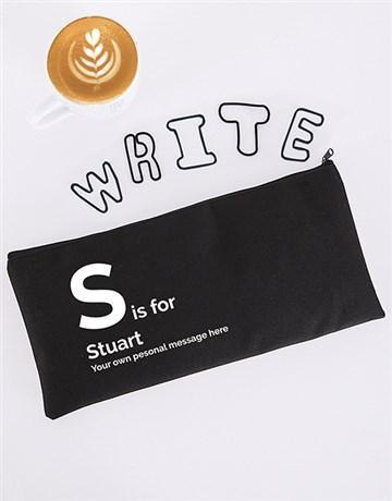 personalised: Personalised Initial Pencil Bag!
