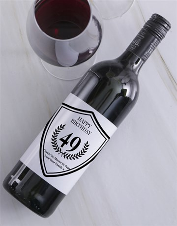 fine-alcohol: Platinum Birthday Personalised Wine!