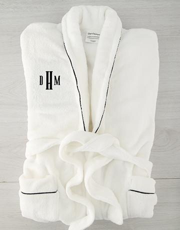 personalised: Personalised Urban Monogram Fleece Gown!