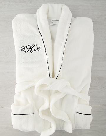 personalised:  Personalised Cursive Monogram Fleece Gown!