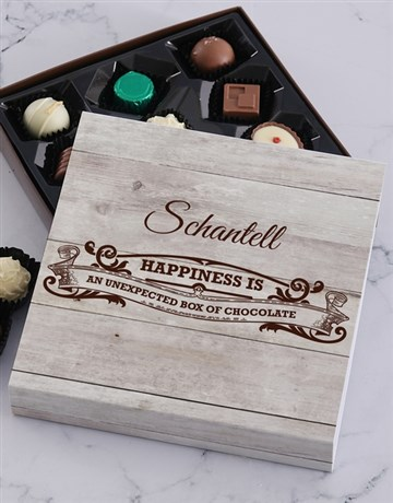personalised: Personalised Happiness Chocolate Tray!