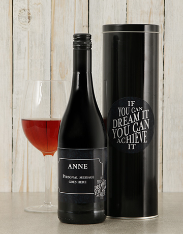 fine-alcohol: Personalised Dream It Wine Tin!