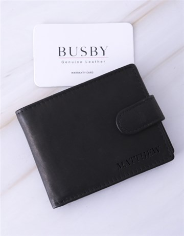 valentines-day: Personalised Black Busby Gents Wallet!