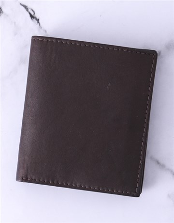 valentines-day: Personalised Brown Busby Gents Wallet!