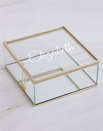 christmas: Personalised Glass Trinket Box!