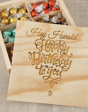 chocolate: Personalised Birthday Choc Treasure Box!