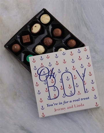 baby: Personalised Oh Boy Chocolate Tray!