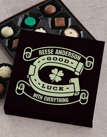chocolate: Personalised Vines Good Luck Choc Tray!
