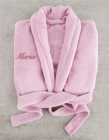 personalised: Personalised Vintage Pink Fleece Gown!