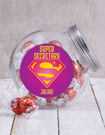 secretarys-day: Personalised Super Secretary Candy Jar!
