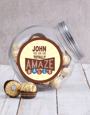 secretarys-day: Personalised Brown Amazeballs Candy Jar!