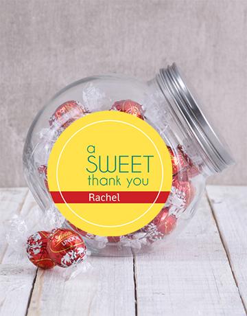 secretarys-day: Personalised Sweet Thank You Candy Jar!