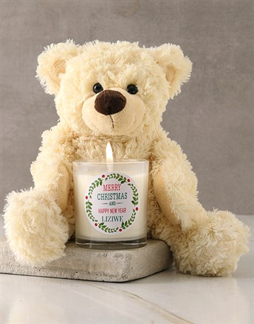 personalised: Personalised Merry Christmas Candle!