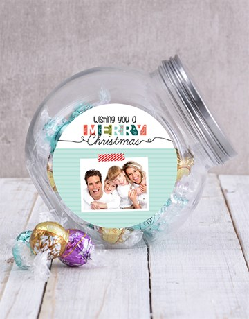 personalised: Personalised Photo Christmas Candy Jar!
