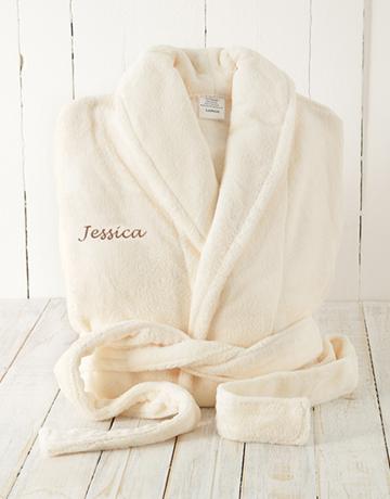 personalised: Personalised Cream Fleece Gown!