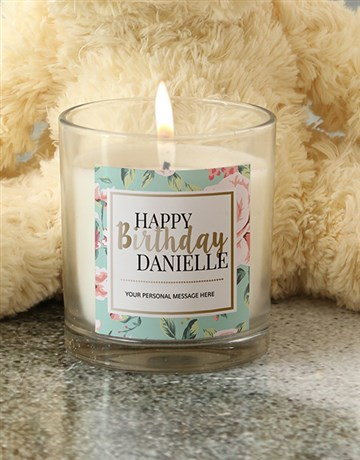 personalised: Personalised Pastel Happy Birthday Candle!