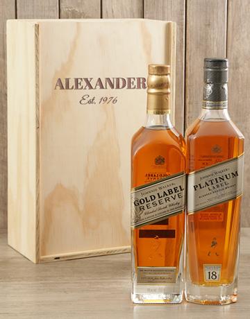 valentines-day: Personalised Double Johnnie Walker Crate!