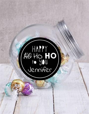personalised: Personalised Ho Ho Ho Candy Jar!