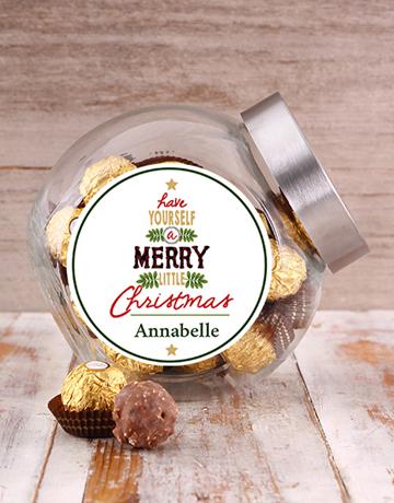 personalised: Personalised Christmas Tree Candy Jar!
