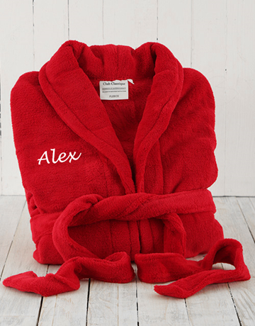 personalised: Personalised Red Fleece Gown!