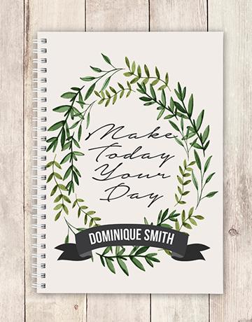 personalised: Personalised Make Today Notebook!