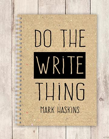 personalised: Personalised Write Thing Notebook!