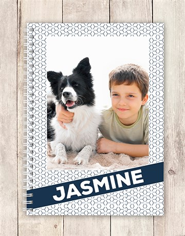 personalised: Personalised Photo Diagonal Notebook!